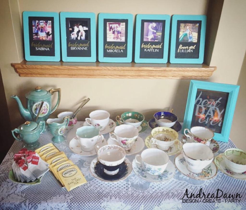 Bridal Shower Tea Cart Meet the Bridesmaids Maids Pictures Edmonton Calgary