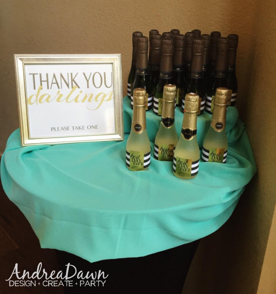 Bridal Shower Mini Champagne Bottle Guest Favours Edmonton Calgary