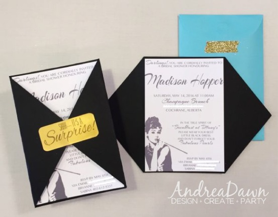 Breakfast at Tiffanys Bridal Shower Ivitations Champagne Brunch Invite