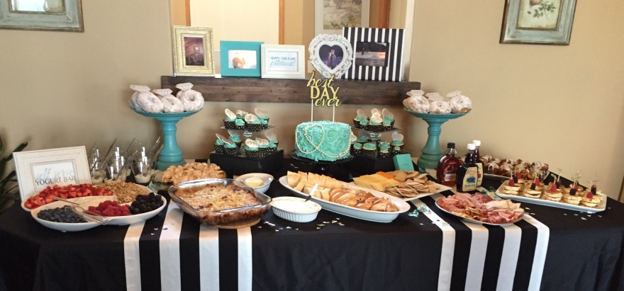 Breakfast at Tiffanys Bridal Shower Food Decor