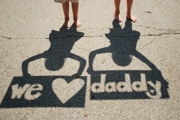 Daddy Father's Day Shadow Picture Gift DIY