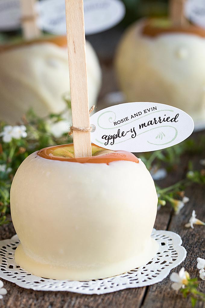 Caramel Apple Wedding Guest Favours Sweets