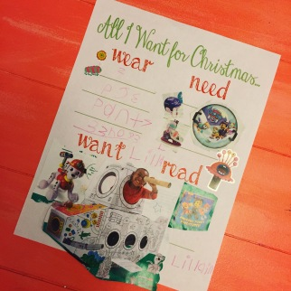 Christmas Wish Gift List for Kids Free Printable